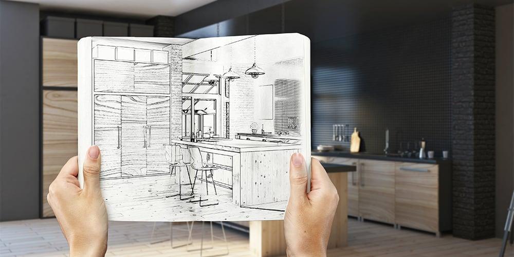 Planlegge kjøkken