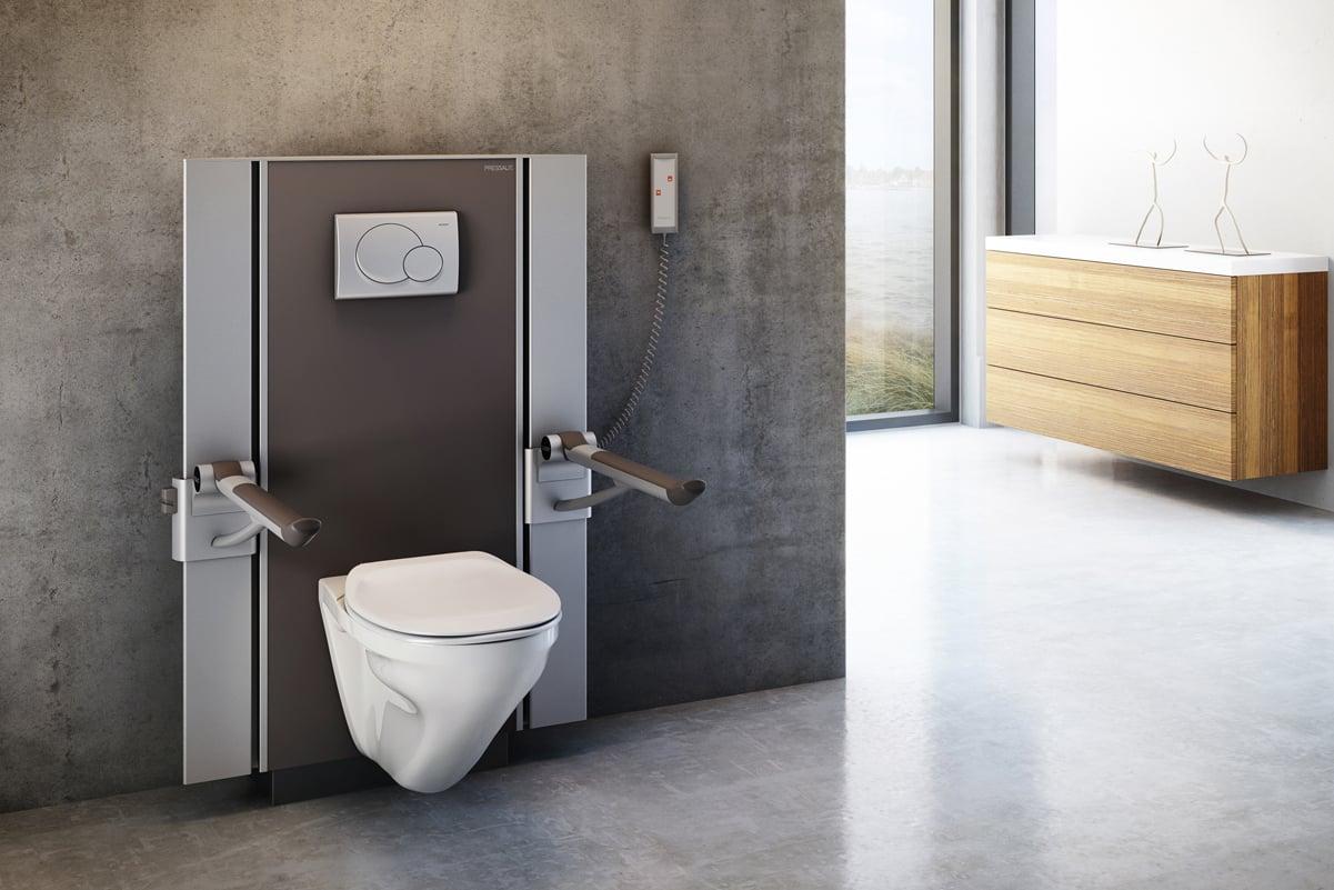 Pressalit toalett med elektriske støtter